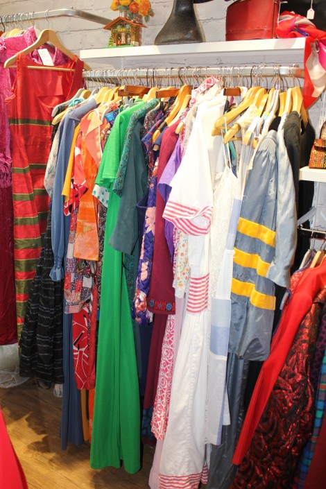 hove clothes on rail